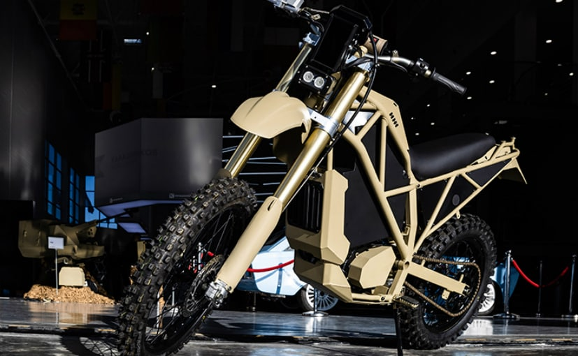 The Kalashnikov SM-1 is an off-road electric motorcycle