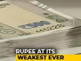 Video : Rupee Breaches 70 Mark Against US Dollar For First Time Ever