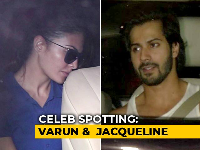 Video : Celeb Spotting: Varun Dhawan, Jacqueline Fernandez & More