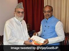 As Part Of Sampark For Samarthan Campaign, Vijay Goel Meets Jama Masjid's Shahi Imam