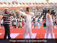 """""""Over 75 Lakh In Gujarat Take Part In Yoga Day Celebration"""": Vijay Rupani"""