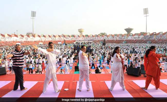 'Over 75 Lakh In Gujarat Take Part In Yoga Day Celebration': Vijay Rupani