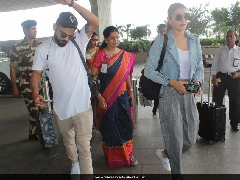 Virat Kohli, Anushka Sharma Twinning In White Sneakers. See Pics