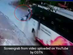 Caught On CCTV: Close Call For Karnataka Scooter Driver In Crash With Bus