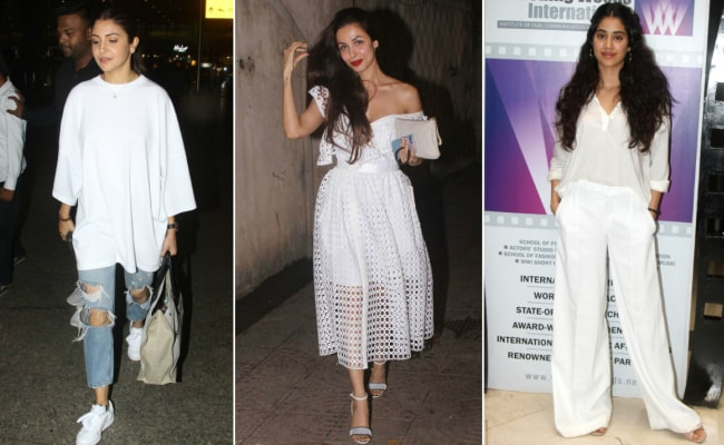 There's No Getting Over Whites, Thanks To Anushka Sharma, Malaika Arora And Janhvi Kapoor