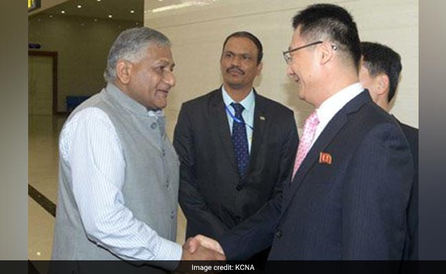 VK Singh First Indian Minister To Visit North Korea in 20 Years