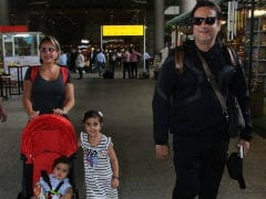Fardeen Khan Spotted Again At The Airport, This Time With Family. Meet His Kids