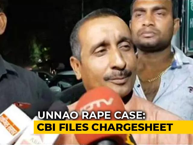 Video : BJP Lawmaker Kuldeep Sengar Charged By CBI In Unnao Rape Case