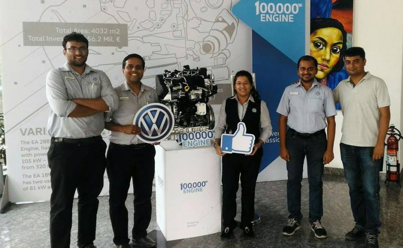 Volkswagen Has Manufactured Its 1,00,000th TDI Engine In India