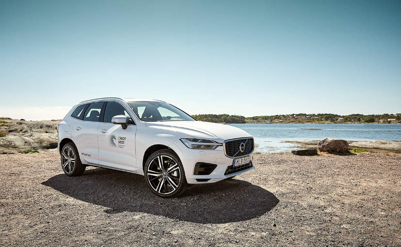 Volvo unveiled a specially-built version of its XC60 T8 PHEV SUV with recycled materials