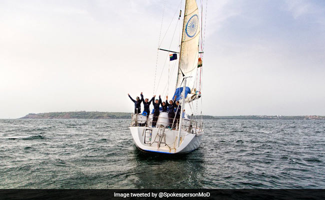Independence Day 2018: All Women Crew Of INSV Tarini, Who Went Around The Globe, Awarded