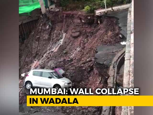 Video : Cars Buried As Wall Of South Mumbai Complex Crashes After Heavy Rain