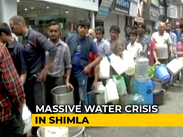 Video : No Water, Dry Shimla Says Tourists Go Back