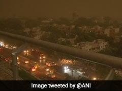 दिल्ली-NCR में तेज धूल भरी आंधी के साथ बारिश, विमान सेवा पर भी असर