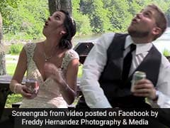 Newlyweds Narrowly Escape Falling Tree Branch During Wedding Video Shoot