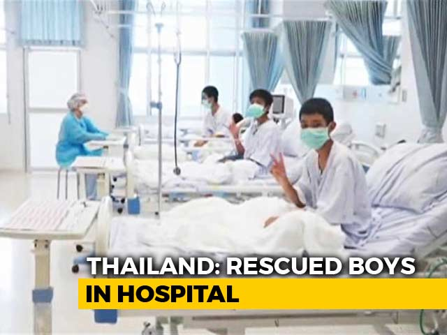 Video : Watch: First Visuals Of Thai Boys In Hospital After Being Rescued From Cave