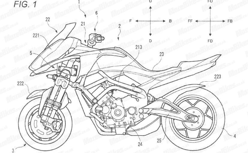 Patent images show an upcoming Yamaha leaning three-wheeler