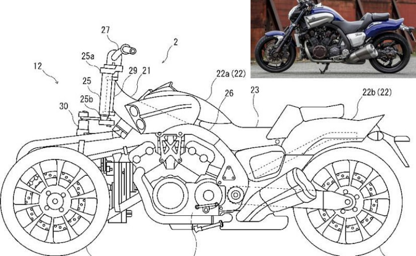 The patent image bears an uncanny resemblance to the Yamaha V-Max