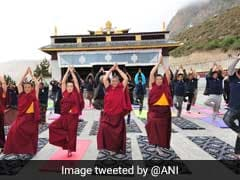 Nepal Marks Yoga Day At Muktinath Temple, 12,500 Feet Above Sea Level