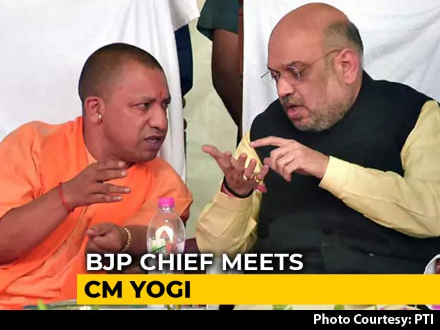 Video : Amit Shah Meets Yogi Adityanath, Asks For Inputs On Bypoll Losses