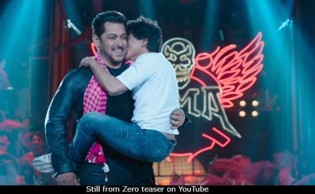 Zero Teaser: Shah Rukh And Salman Khan Replace Eid Hugs With Kisses And It's So Darn Cute