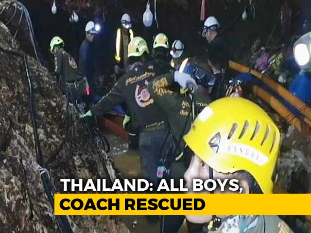 Video : After 17 Days, 12 Boys And Coach Safely Rescued From Thai Cave